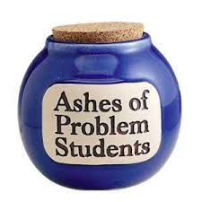 Appromimation of Ashes of Problem students jar.